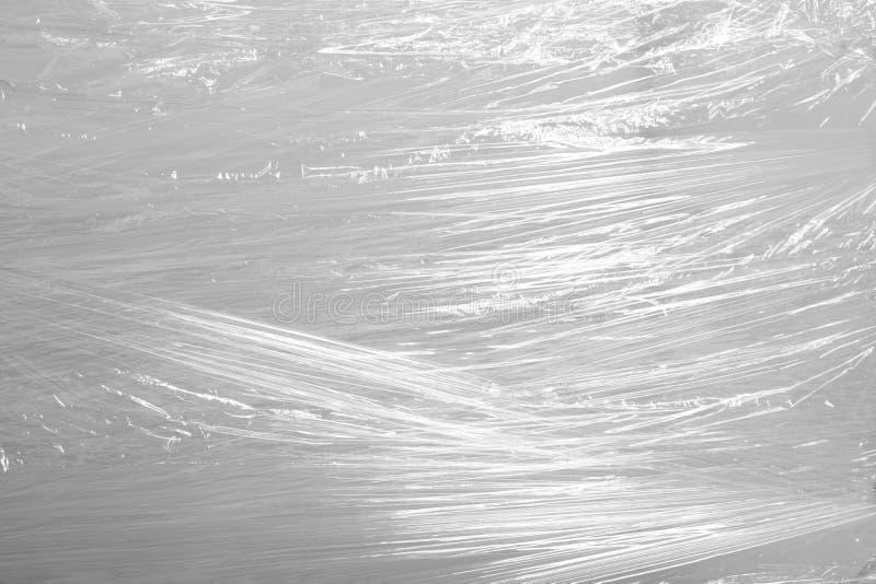 Verpackung der materiellen Industrie des transparenten Hintergrundplastikfreien raumes stockfotografie