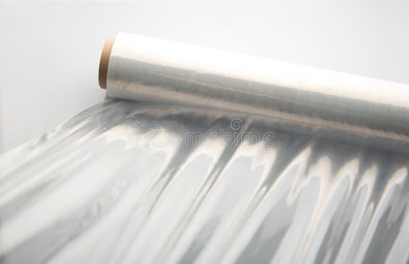 Verpackung der Plastikstretchfolie lizenzfreie stockfotos