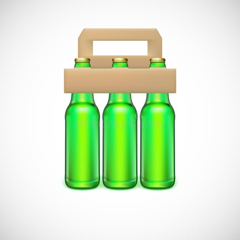 Verpackung des Bieres lizenzfreie abbildung