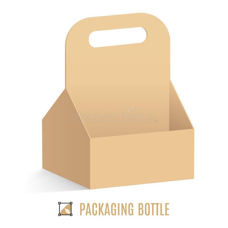 Verpackung für Flaschen vektor abbildung