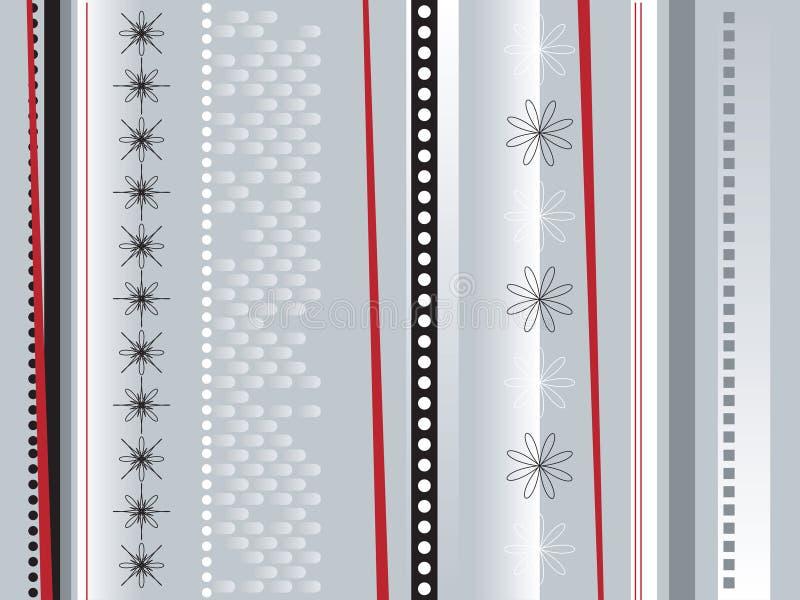 Verpakkend document zilver stock illustratie