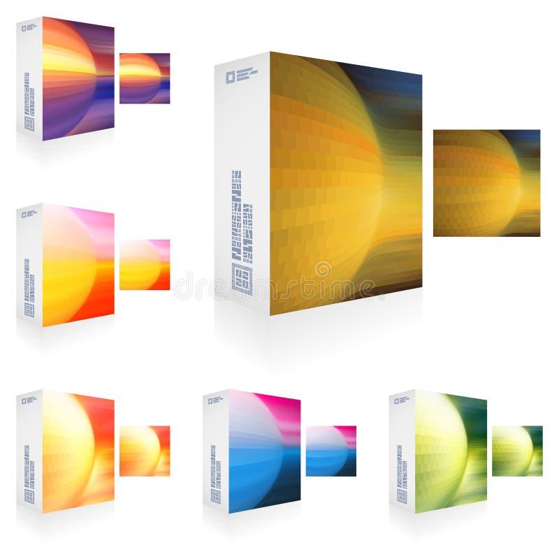 Verpakkende doos. vector illustratie