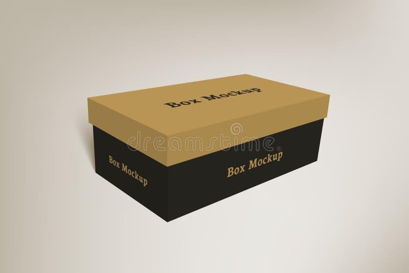 Verpakkende het modeldoos 2 van het schoenenproduct stock illustratie