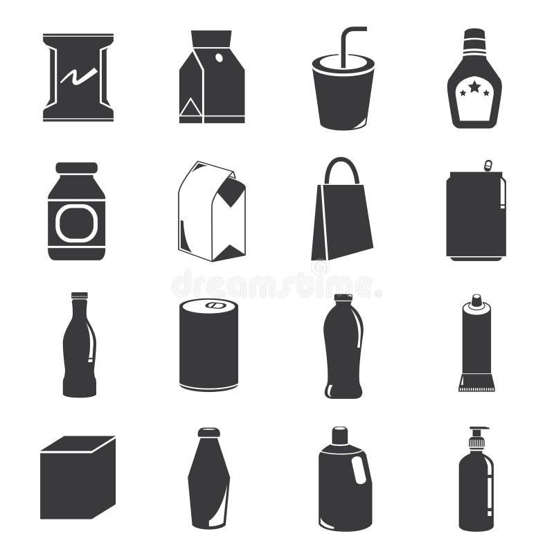 Verpakkende pictogrammen vector illustratie