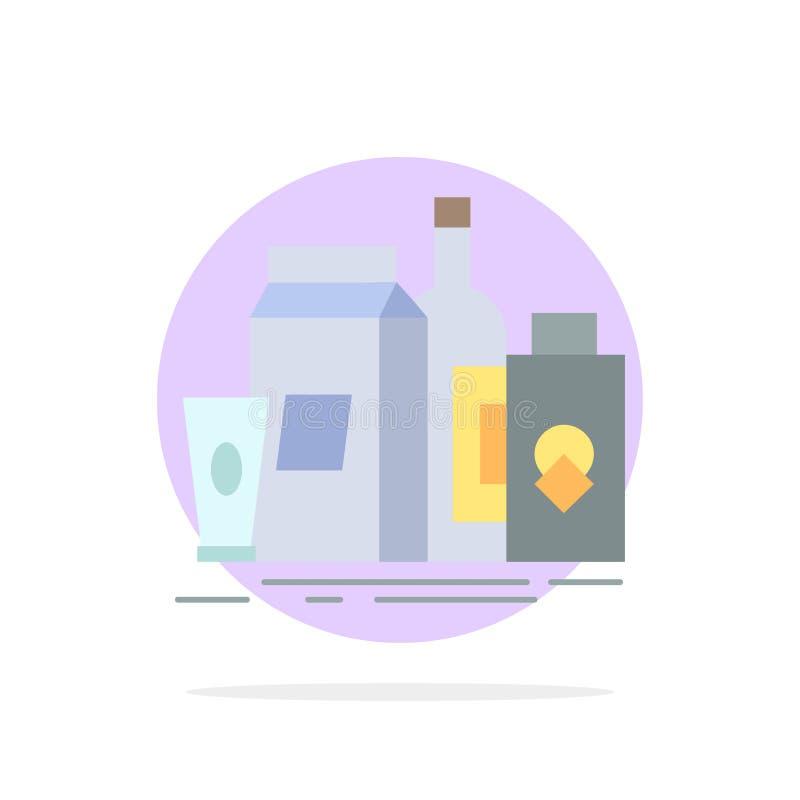 verpakking, het Brandmerken, marketing, product, het Pictogramvector van de flessen Vlakke Kleur vector illustratie