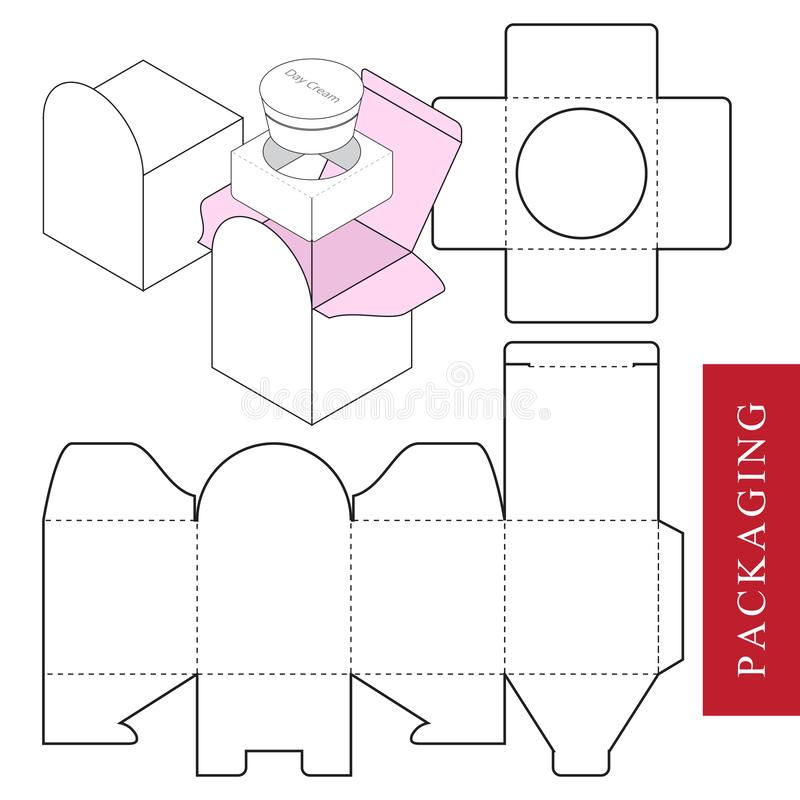 Verpakking voor schoonheidsmiddel of skincare product royalty-vrije illustratie