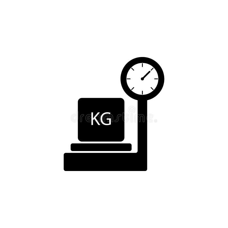 Verpakkingsdoos op schalenpictogram Element van logistisch voor mobiel concept en Web apps Pictogram voor websiteontwerp en ontwi stock illustratie
