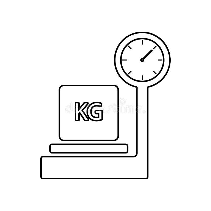 Verpakkingsdoos op schalenpictogram Element van Logistisch voor mobiel concept en webtoepassingenpictogram Overzicht, dun lijnpic royalty-vrije illustratie
