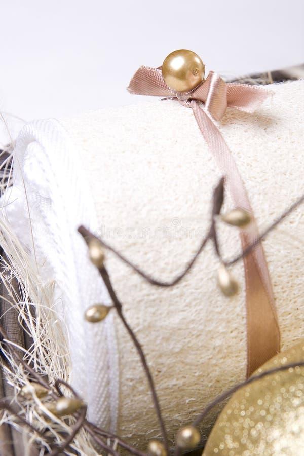 Verpakte handdoek stock afbeelding