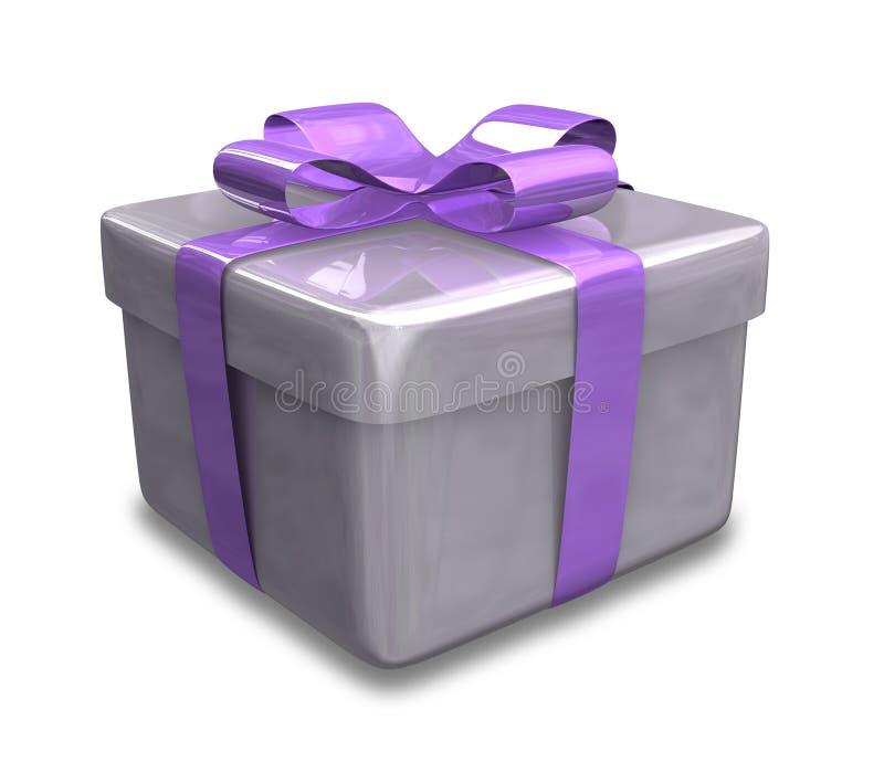 Verpakte purpere gift 3D v3 stock illustratie