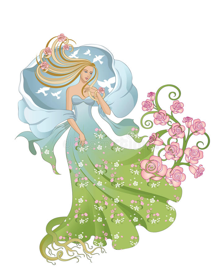 Verpersoonlijkte de lente royalty-vrije illustratie