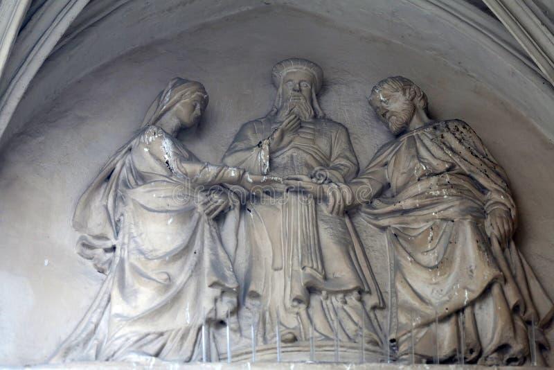 Verpflichtung von Jungfrau Maria lizenzfreie stockfotos