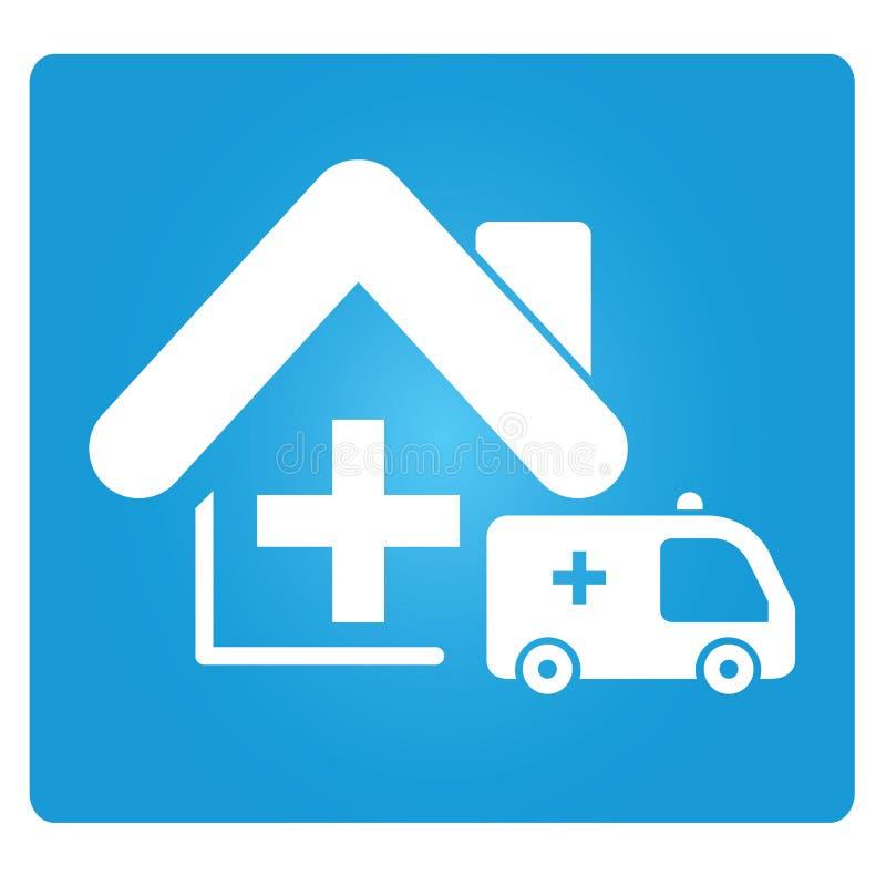 Verpleeghuis vector illustratie