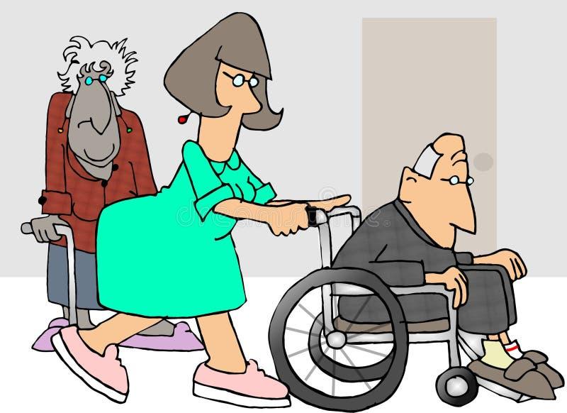 Verpleeghuis stock illustratie