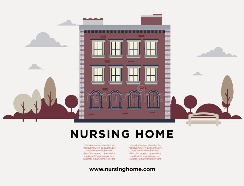 Verpleeghuis royalty-vrije illustratie