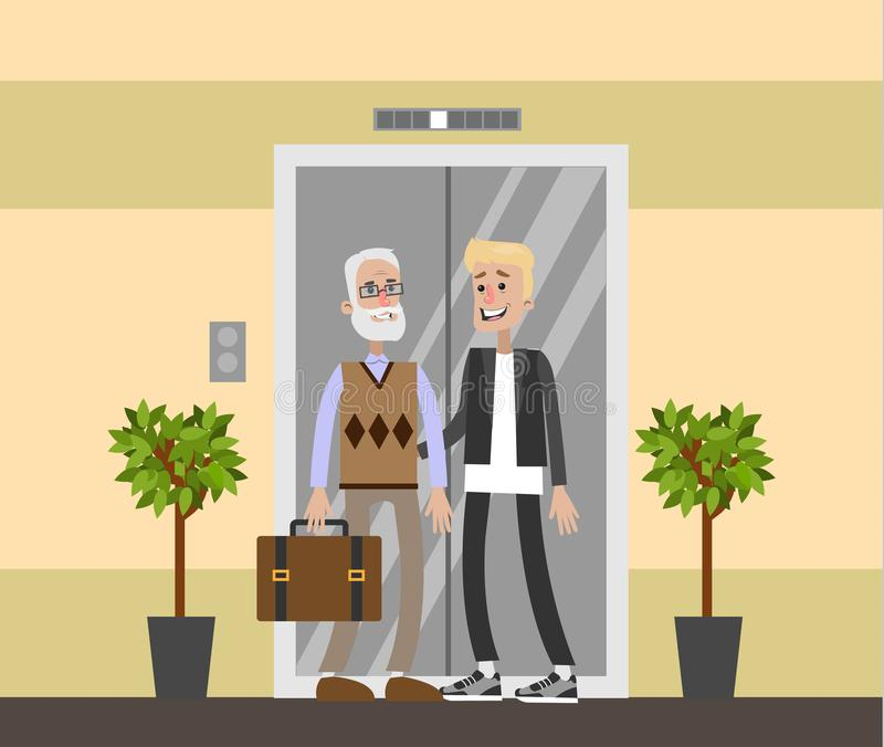 Verpleeghuisbinnenland royalty-vrije illustratie
