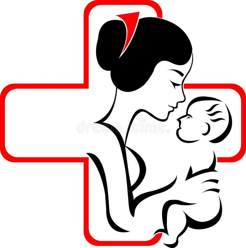 Verpleeghuisembleem stock illustratie