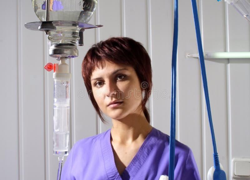 Verpleegster in het ziekenhuis royalty-vrije stock foto
