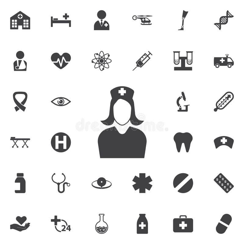 Verpleegster Icon royalty-vrije stock afbeeldingen