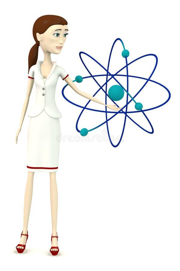 Download Verpleegster met atoom stock illustratie. Illustratie bestaande uit proton - 29504798
