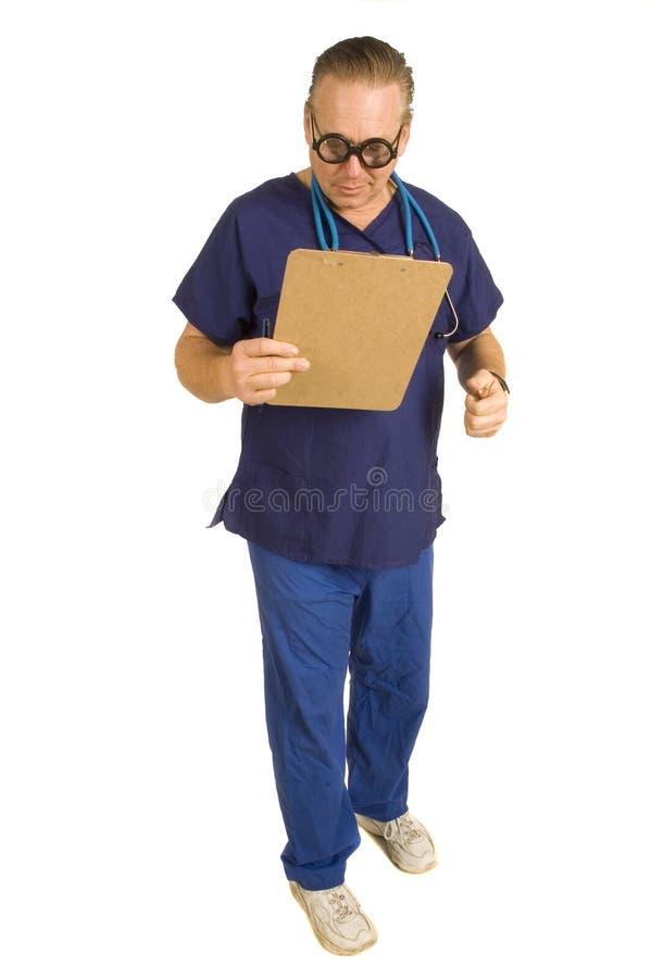 Verpleger of arts stock afbeelding