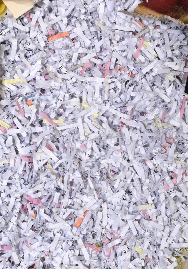 Verpletterd document document stock foto's