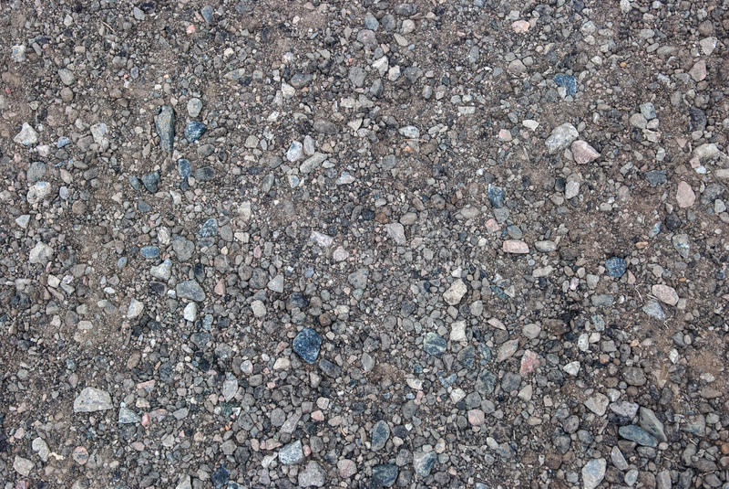 Verpletterd Grint met Blauwe en Witte Spaanders stock afbeeldingen