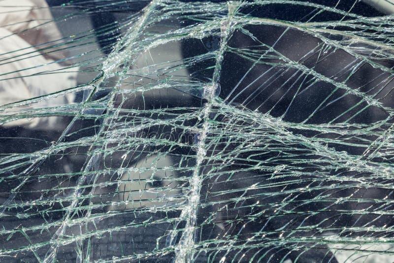 Verpletterd windscherm royalty-vrije stock foto's