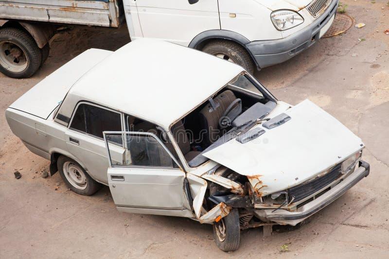 Verpletterde auto's royalty-vrije stock afbeeldingen