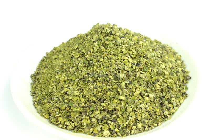 Verpletterde groene paprika royalty-vrije stock afbeelding
