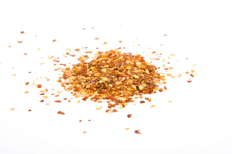 Verpletterde Spaanse peper stock fotografie