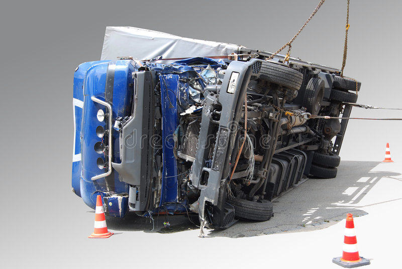 Verpletterde vrachtwagen royalty-vrije stock foto's