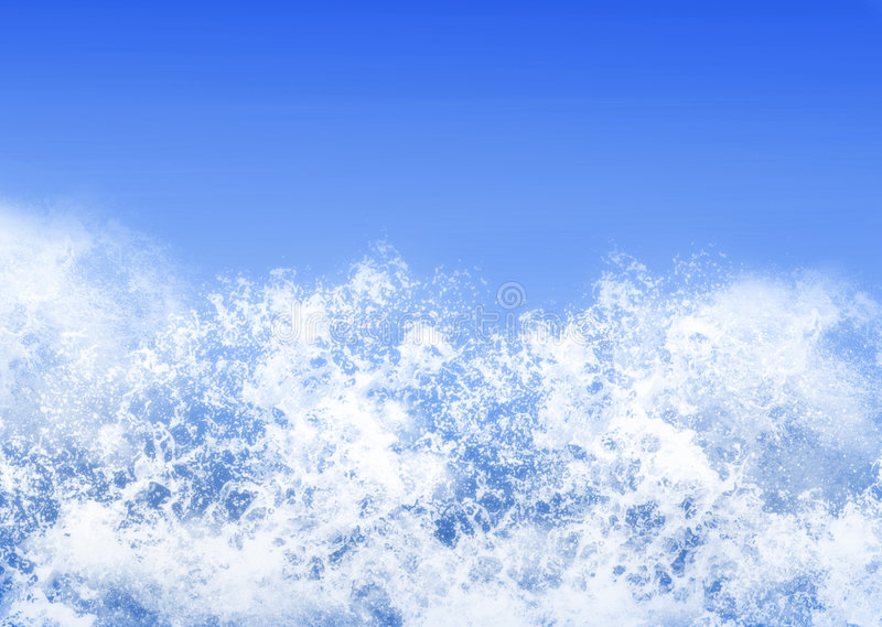Verpletterende golven stock foto's