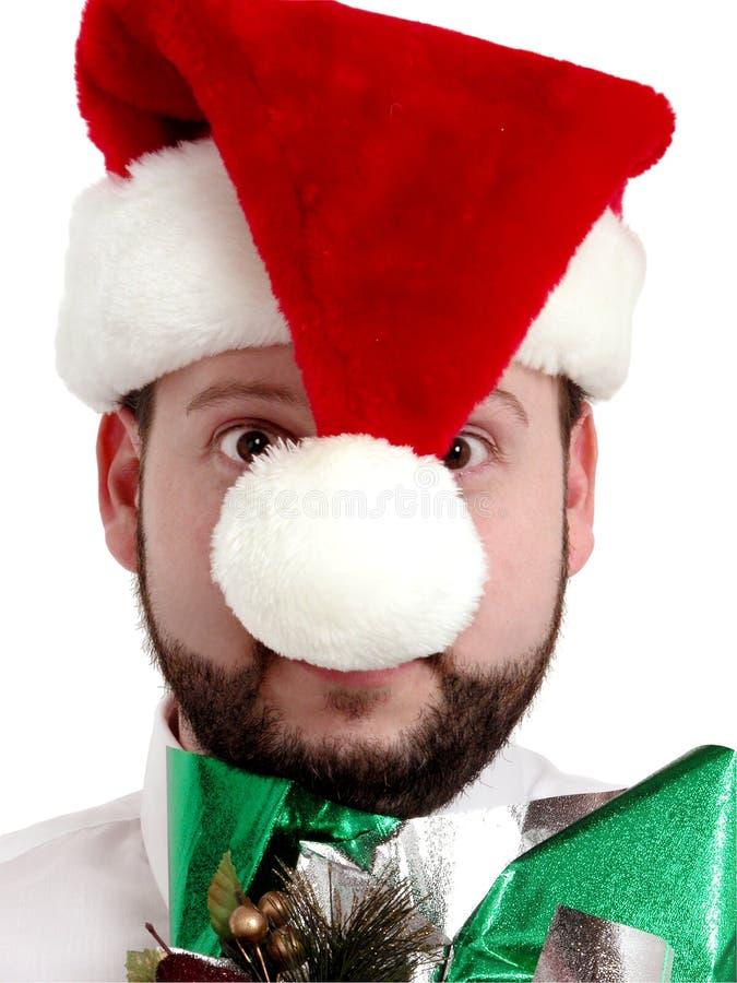 Verrückt gemachter Pfad des Weihnachtskäufer-w/Clipping lizenzfreies stockbild