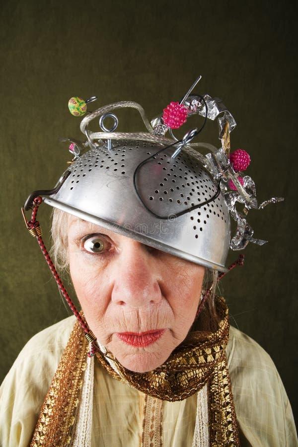 Verrückte Frau stockbild