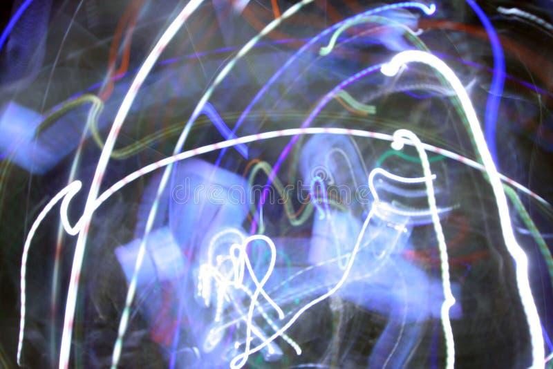 Verrückte Leuchten stockfotografie