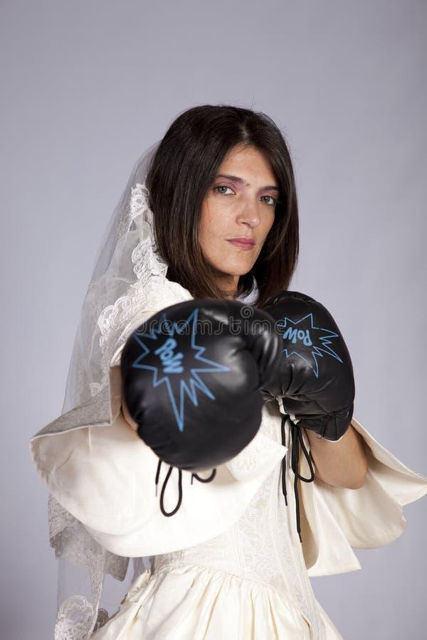 Verrückte schöne Braut stockfotos
