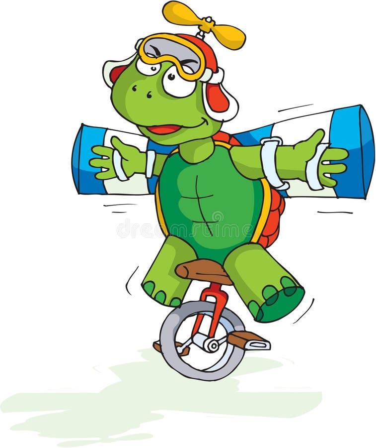 Verrückte Schildkröte lizenzfreie abbildung