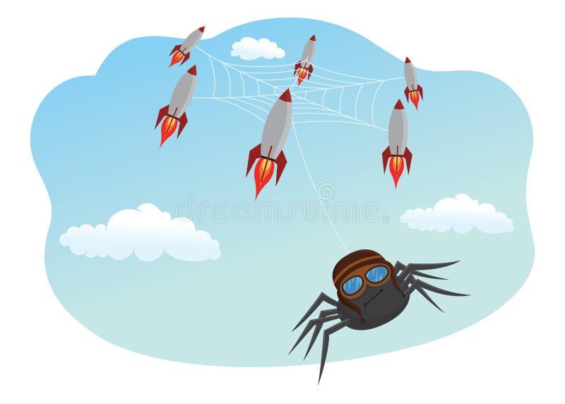 Verrückte Spinne stock abbildung