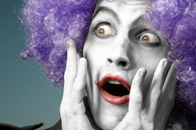 Verrückter Clown lizenzfreies stockbild