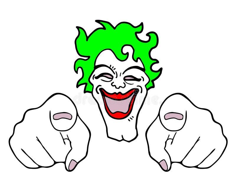 Verrückter Clown lizenzfreie abbildung