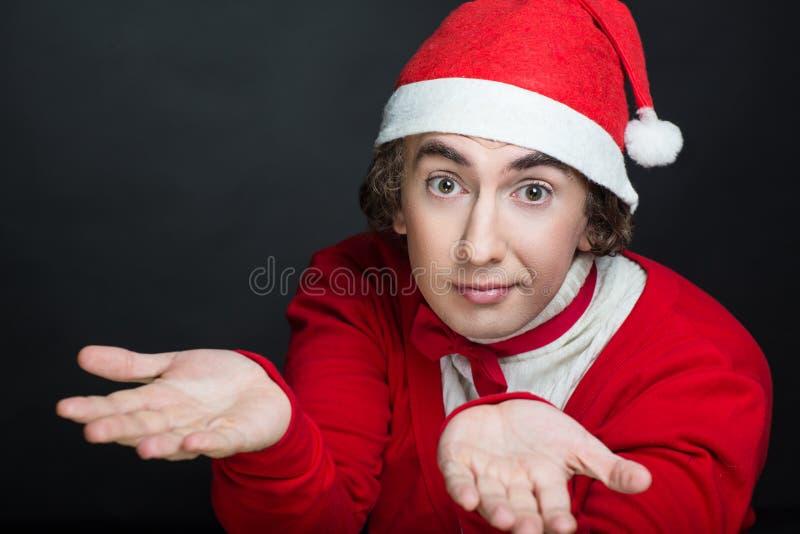 Verrückter Weihnachtsmann stockfoto