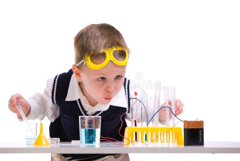 Verrückter Wissenschaftler stockfoto