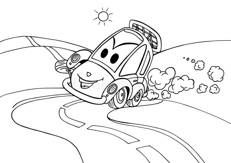 Verrücktes Auto auf den Ecken stock abbildung