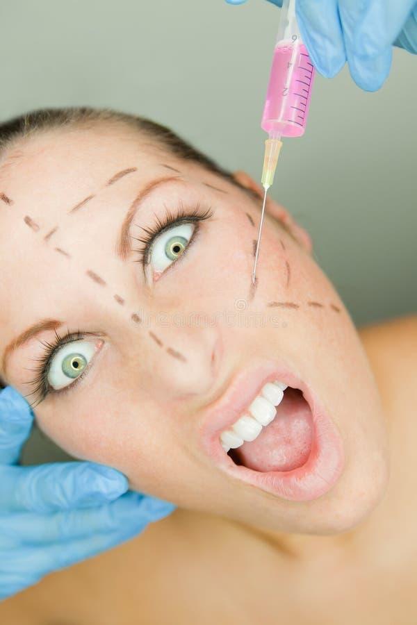 Verrücktes botox stockfoto