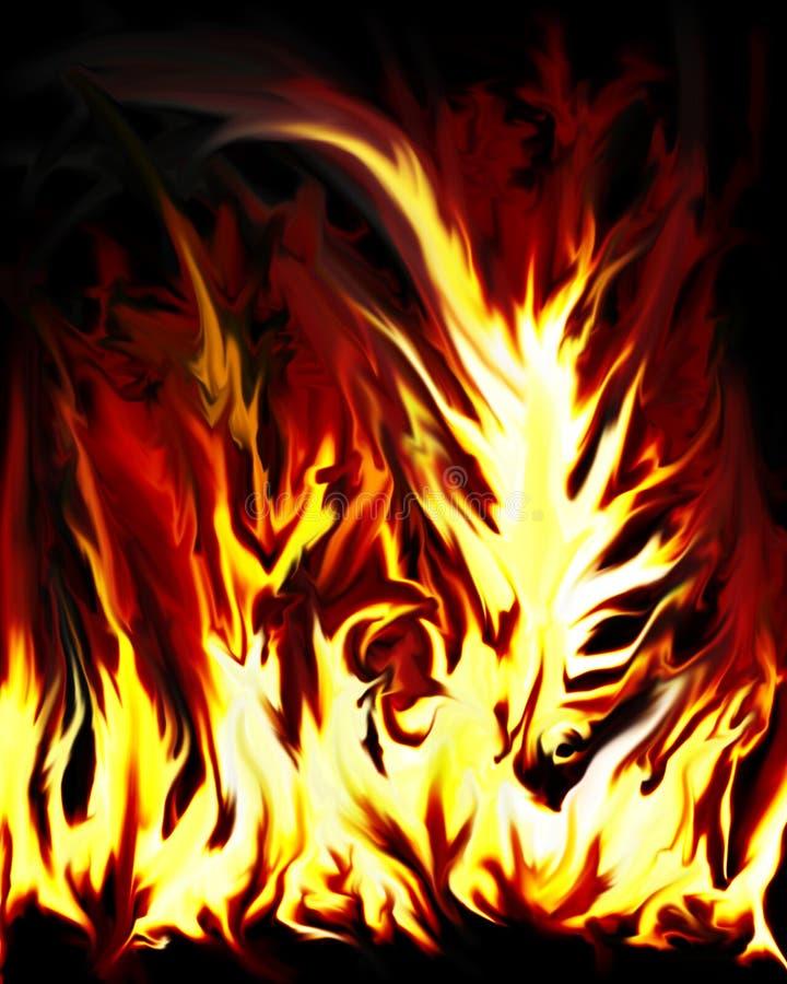 Verrücktes Feuer stock abbildung