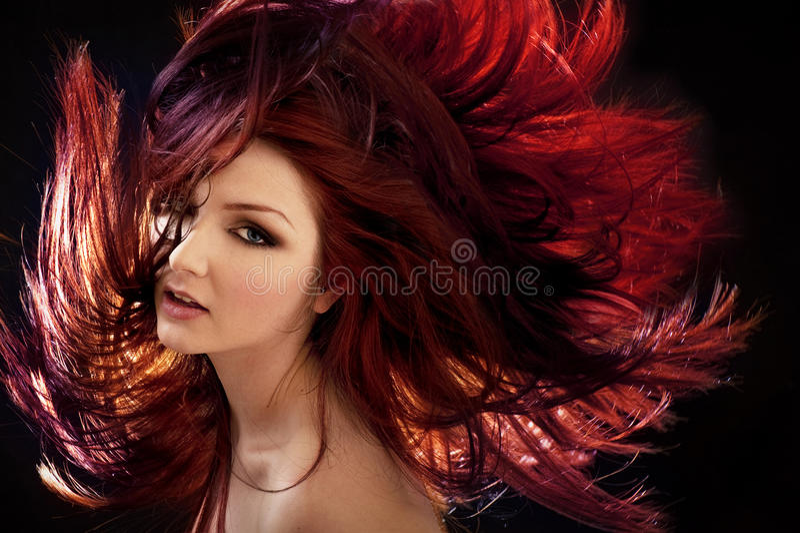 Verrücktes Haar stockfoto