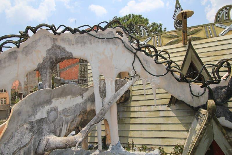 Verrücktes Haus in DA-Lat, Vietnam stockfotografie