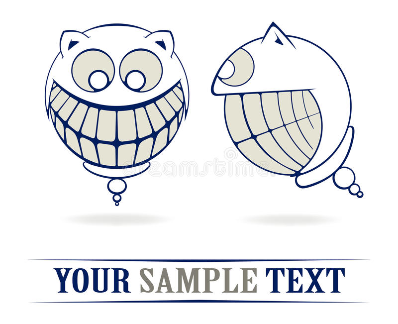 Verrücktes Lächeln der Zähne stock abbildung