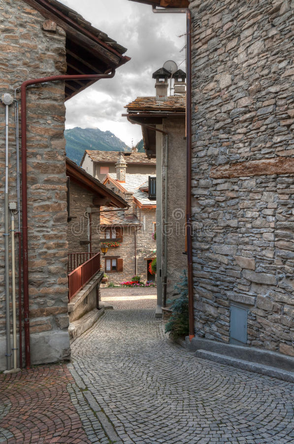 Download Verrand, Courmayeur stock image. Image of street, road - 17090011
